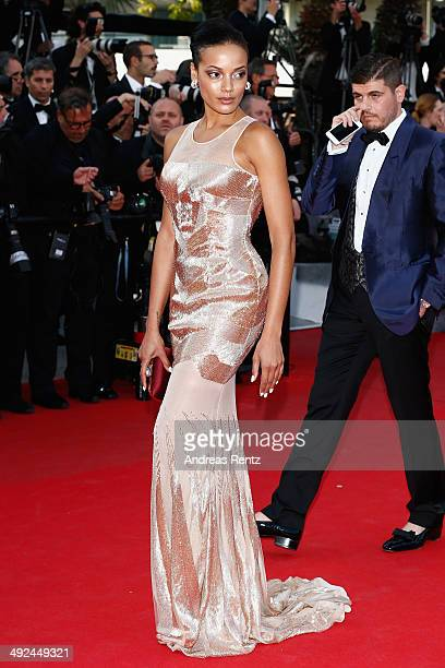 Selita Ebanks attends the Two Days One Night premiere during the 67th Annual Cannes Film Festival on May 20 2014 in Cannes France
