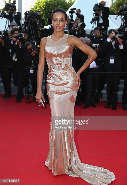 """Selita Ebanks attends the """"Two Days, One Night"""" premiere during the 67th Annual Cannes Film Festival on May 20, 2014 in Cannes, France."""