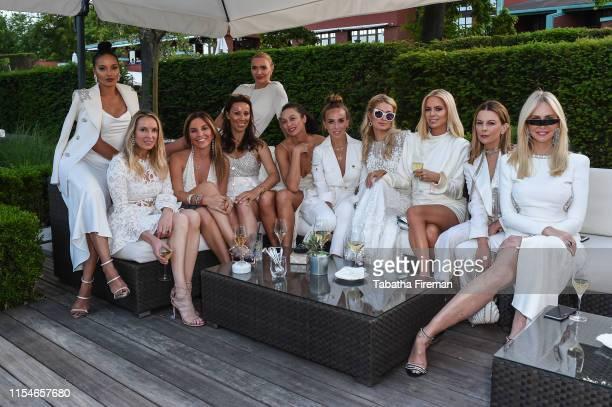Selita Ebanks, Janine Robertson, Nathalie Dauriac, guest, Jodie Kidd, Sharlely Becker, Chloe Green, Paris Hilton, Caroline Stanbury, Juliet Angus and...