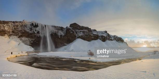 Seljalandsfoss im Winter Panorama