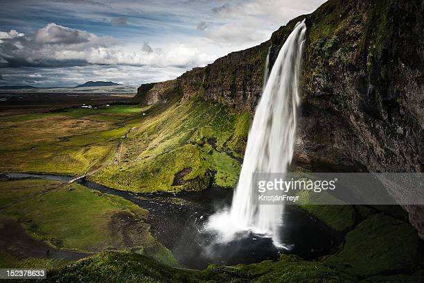 seljalandsfoss - waterfall stock photos and pictures
