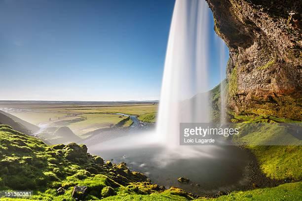 seljalandsfoss waterfall - lagarde stock photos and pictures