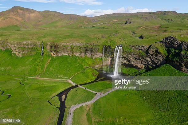 seljalandsfoss waterfall - selfoss stock photos and pictures