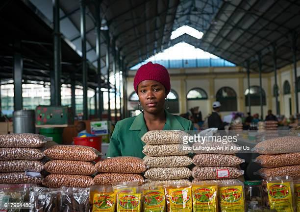 Seller in mercado central maputo Mozambique on July 9 2013 in Maputo Mozambique