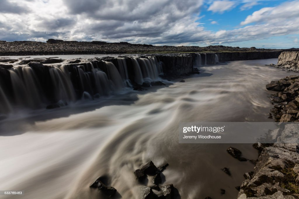 Sellfoss Falls and river, Myvatn, Iceland : Foto stock
