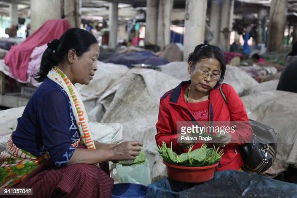 Selling areca nut A market exclusively run by women it is called the Ima Market or the 'Mothers Market' The market situated in the heart of the...