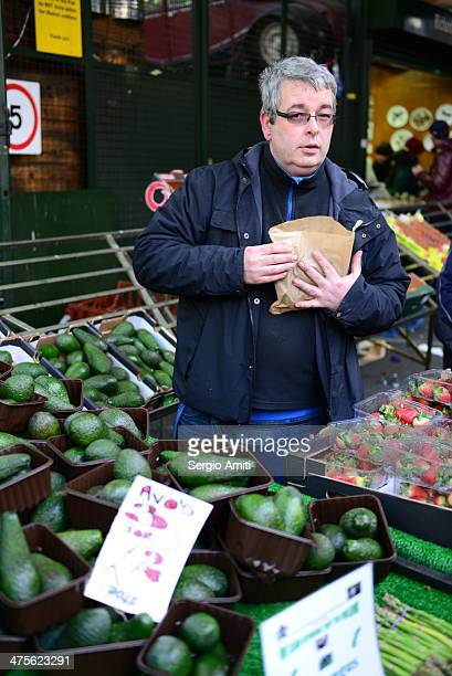 Selling Avocados at Borough Market