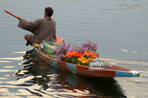 selling flowers - kashmir stock photos and pictures