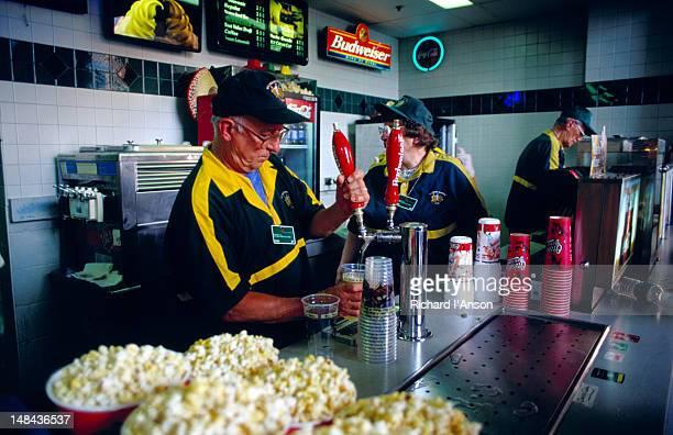 Selling food at Oriole Park baseball stadium.