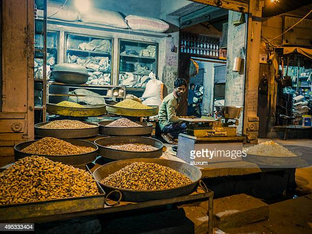 Selling food in Sadar Bazaar Jodhpur India