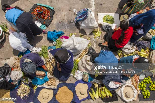 Selling fruit and vegetables at the famous weekly market