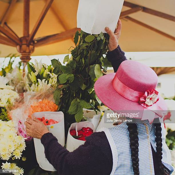 Selling roses in Cuenca, Ecuador