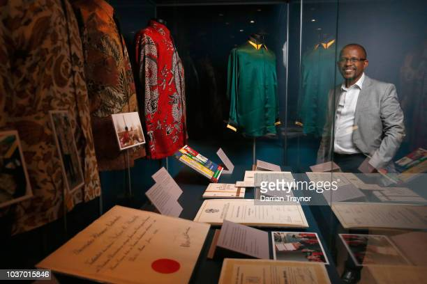 A media preview of Mandela My Life The Official Exhibition at Melbourne Museum on September 21 2018 in Melbourne Australia The exhibition features...