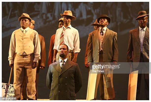 Sello Maakeka Ncube during Madiba The African Opera at the State Theatre on May 22 2014 in Pretoria South Africa The opera focuses on Nelson Mandelas...