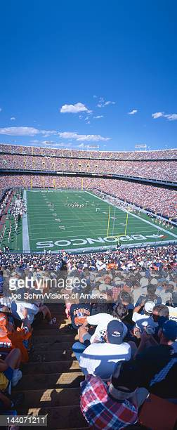 Sell-out crowd at Mile High Stadium, Broncos v Rams, Denver, Colorado