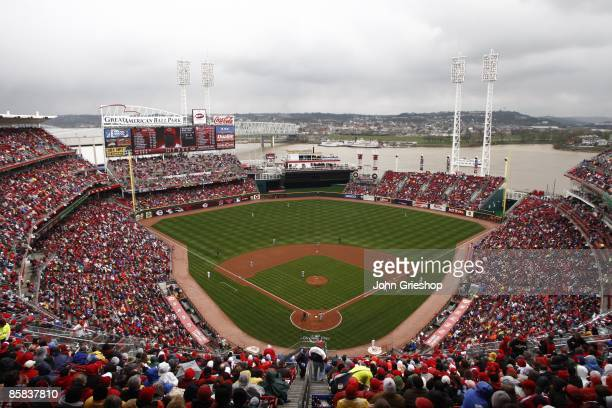 A sellout crowd of more than 42000 people turned out for the New York Mets versus Cincinnati Reds game at Great American Ball Park in Cincinnati Ohio...