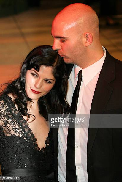 Selma Blair and Ahmet Zappa during 2006 Vanity Fair Oscar Party at Morton's in West Hollywood California United States