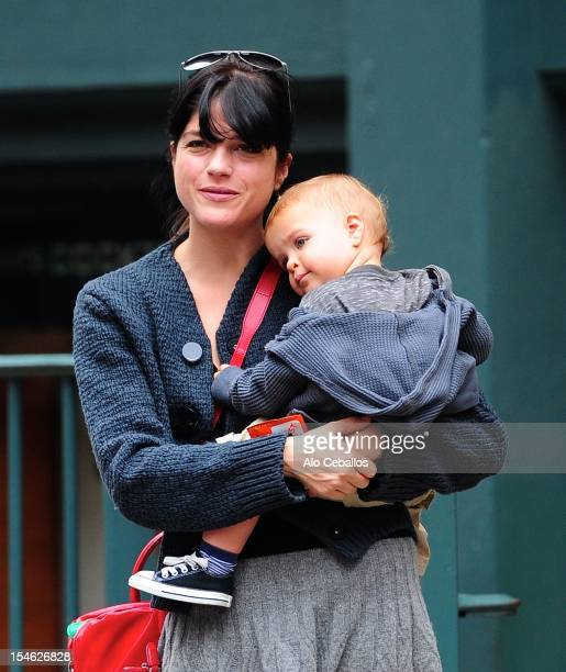 Selma Blair and Arthur Saint Bleick are seen in Soho on October 23 2012 in New York City