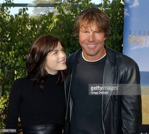 Selma Blair and Dennis Quaid during The 20th Annual IFP Independent Spirit Awards Nominations Announcement at Le Meridien Hotel in Los Angeles...