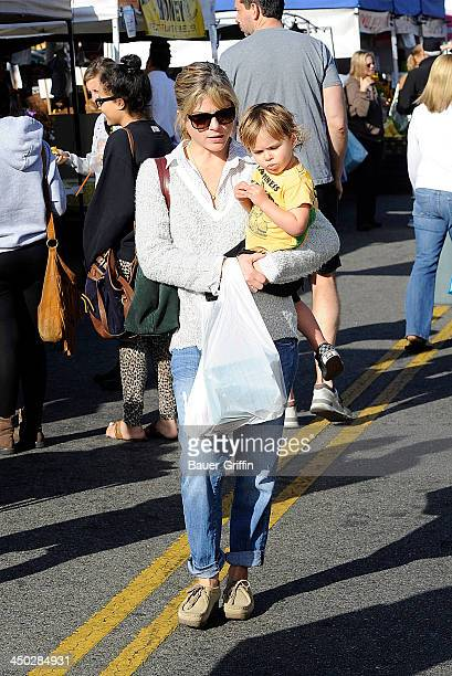Selma Blair and her son Arthur Saint Bleick are seen on November 17 2013 in Los Angeles California