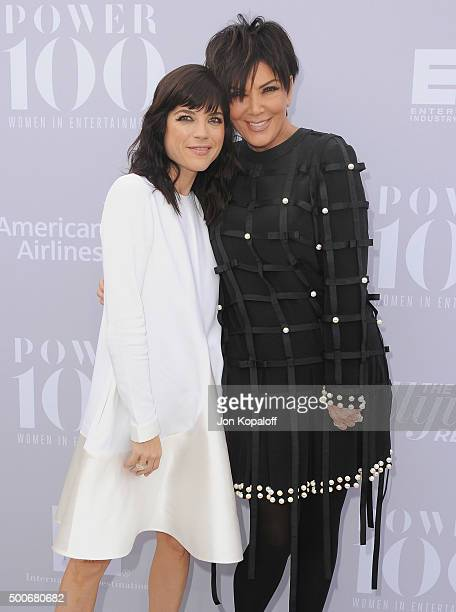 Selma Blair and Kris Jenner arrive at The Hollywood Reporter's Annual Women In Entertainment Breakfast at Milk Studios on December 9 2015 in Los...