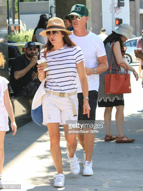 Selma Blair and Ron Carlson are seen on August 06 2017 in Los Angeles California