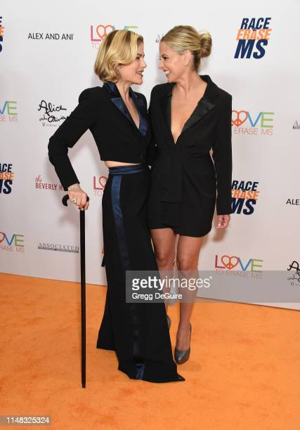 Selma Blair and Sarah Michelle Gellar attend the 26th Annual Race to Erase MS Gala at The Beverly Hilton Hotel on May 10, 2019 in Beverly Hills,...