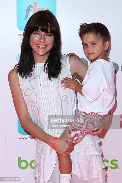 Selma Blair and son Arthur attend the 4th annual Red CARpet Safety Awareness event presented by Favored By at Skirball Cultural Center on September...