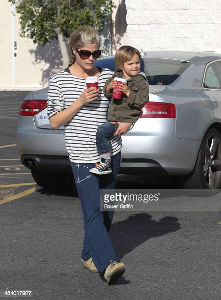 Selma Blair and son Arthur Bleick are seen on December 06, 2013 in Los Angeles, California.