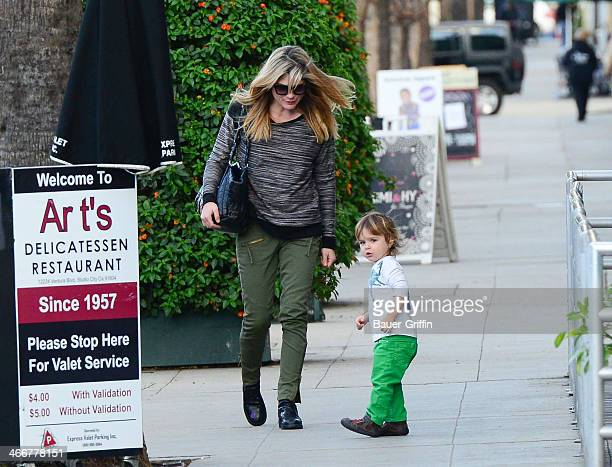 Selma Blair and son Arthur Bleick are seen on February 03, 2014 in Los Angeles, California.