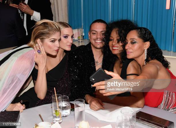 Selma Blair Ashlee Simpson Evan Ross Diana Ross and Tracee Ellis Ross attend the 2019 Vanity Fair Oscar Party hosted by Radhika Jones at Wallis...
