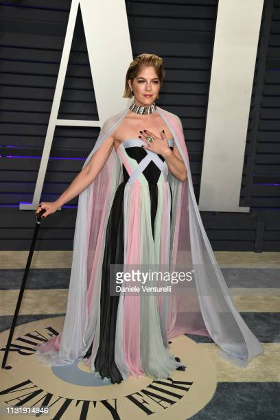 Selma Blair attends 2019 Vanity Fair Oscar Party Hosted By Radhika Jones at Wallis Annenberg Center for the Performing Arts on February 24, 2019 in...