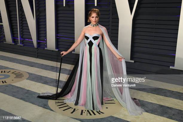 Selma Blair attends 2019 Vanity Fair Oscar Party Hosted By Radhika Jones at Wallis Annenberg Center for the Performing Arts on February 24 2019 in...