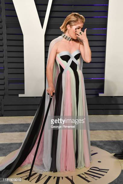 Selma Blair attends the 2019 Vanity Fair Oscar Party hosted by Radhika Jones at Wallis Annenberg Center for the Performing Arts on February 24, 2019...