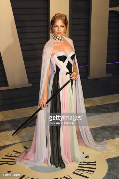 Selma Blair attends the 2019 Vanity Fair Oscar Party hosted by Radhika Jones at Wallis Annenberg Center for the Performing Arts on February 24 2019...