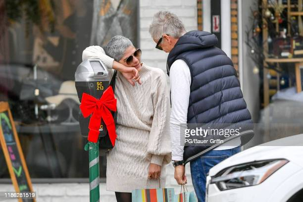 Selma Blair is seen holiday shopping on December 03, 2019 in Los Angeles, California.