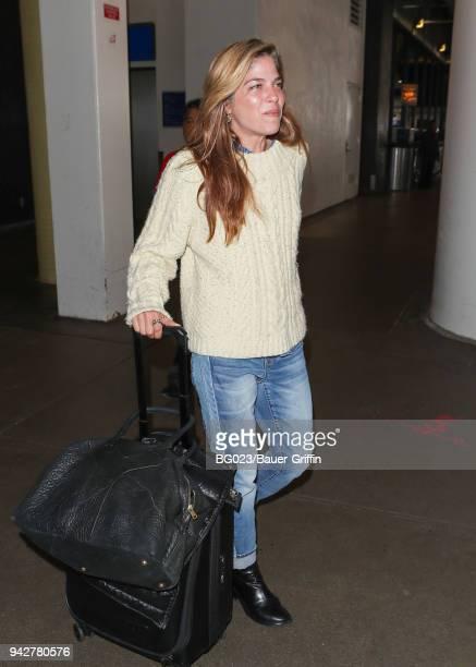 Selma Blair is seen on April 06 2018 in Los Angeles California