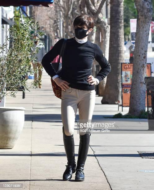 Selma Blair is seen on January 21, 2021 in Los Angeles, California.