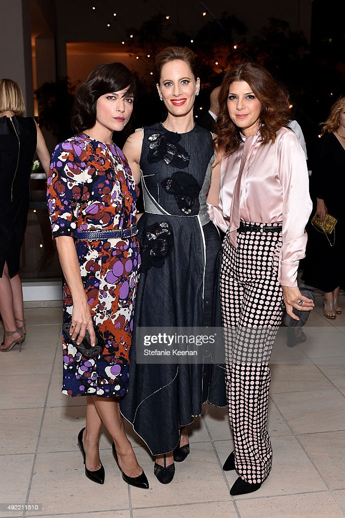 Selma Blair, Liz Goldwyn and Marisa Tomei, all wearing Bottega Veneta attend Hammer Museum's 'Gala in the Garden' Sponsored by Bottega Veneta at Hammer Museum on October 10, 2015 in Westwood, California.