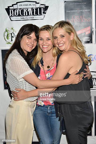 Selma Blair Reese Witherspoon and Sarah Michelle Gellar attend 'The Unauthorized Musical Parody Of Cruel Intentions' at Rockwell Table Stage on May...