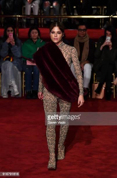 Selma Blair walks the runway at Christian Siriano fashion show during the February 2018 New York Fashion Week on February 10, 2018 in New York City.
