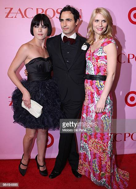 Selma Blair, Zac Posen, and Claire Danes attend the Zac Posen for Target Collection launch party at the New Yorker Hotel on April 15, 2010 in New...