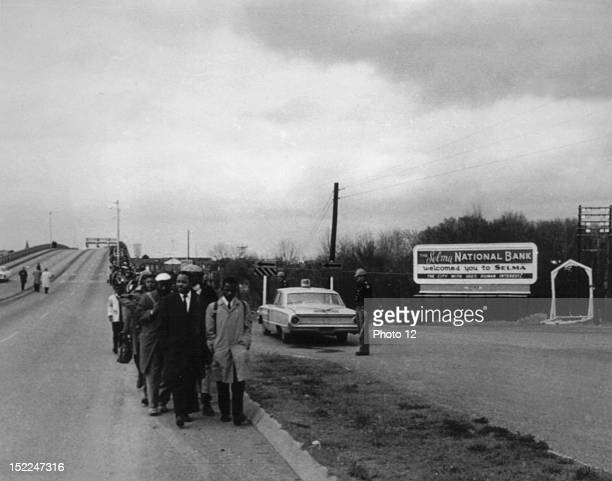 Selma demonstration in Montgomery for the civil rights United States, New York, Schomburg Center.