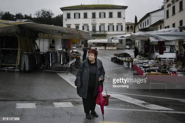 Selma Ferrali a former municipal executive poses for a photograph in Piazza Francesco Berni in Lamporecchio Italy on Friday Feb 2 2018 The town's...