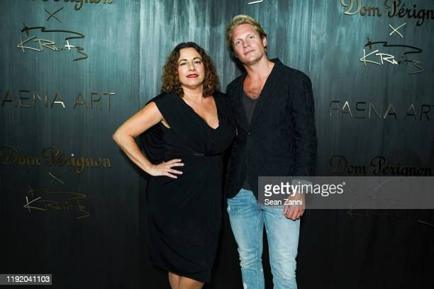 Selma Fiasco and Kyle Rosko attend Dom Perignon Last Supper Party Hosted By Lenny Kravitz And Alan Faena on December 04 2019 in Miami Florida