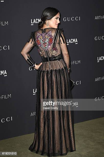 Selma Hayek attends the 2016 LACMA ArtFilm Gala Arrivals at LACMA on October 29 2016 in Los Angeles California