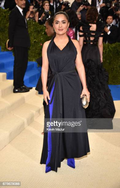 Selma HayekPinault attends the 'Rei Kawakubo/Comme des Garcons Art Of The InBetween' Costume Institute Gala at Metropolitan Museum of Art on May 1...