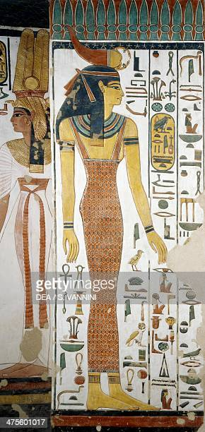 Selqet detail from the frescoes in the burial chamber of Nefertari Valley of Queens Luxor Thebes Egyptian civilisation New Kingdom Dynasty XIX