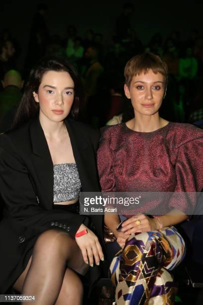 Sema Yilmaz and Gizem Barlak attend the MercedesBenz Fashion Week Istanbul March 2019 at Zorlu Center on March 20 2019 in Istanbul Turkey