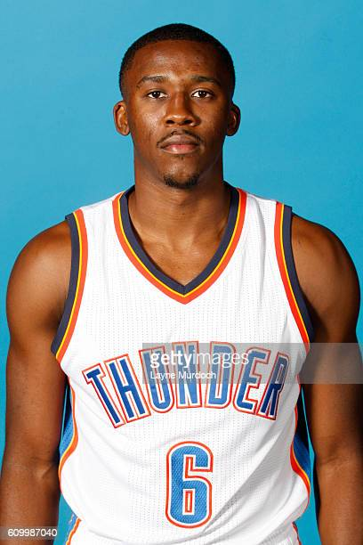 Semaj Christon of the Oklahoma City Thunder poses for a head shot during 2016 NBA Media Day on September 23 2016 at the Chesapeake Energy Arena in...